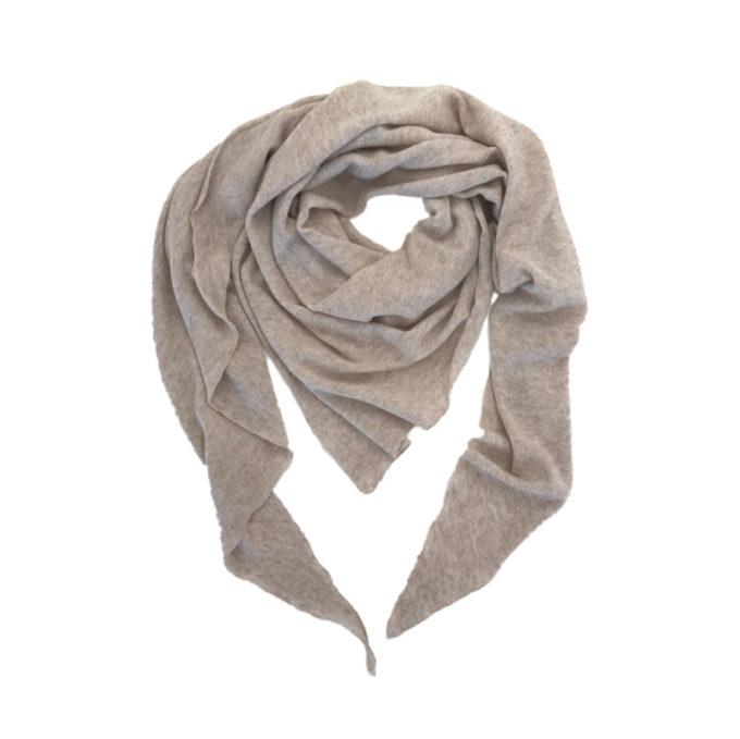 Triangle-Schal-beige