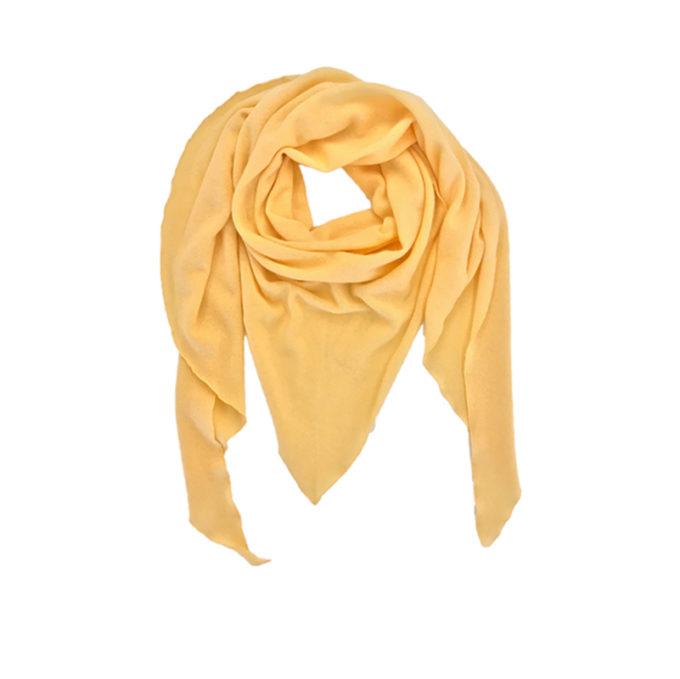 Triangle-Schal-gelb