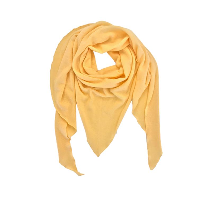 Triangle Schal gelb