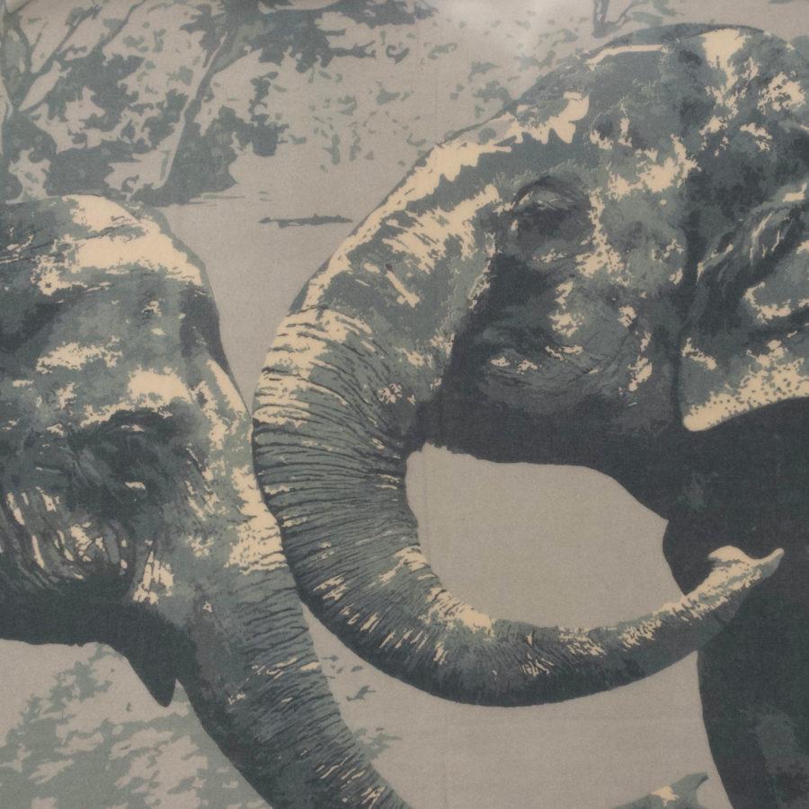 Wlovef elefant grau muster