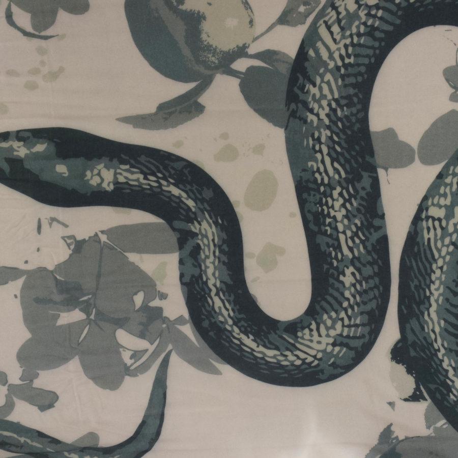 Wlovef snake grau grün muster
